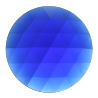 Stained Glass Jewels – 50mm Round Faceted – Dark Blue By Stallings Stained Glass