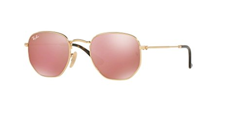 Ray-Ban RB3548N HEXAGONAL 001/Z2 48M Gold/Copper Flash Sunglasses For Men For ()