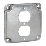 Raco 4-19/100 x 1/2 in. Square Exposed Work Cover with 1 Duplex Receptacle Cover, Pack of 10