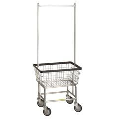 R&B Wire Standard Laundry Cart - Double Pole by R&B Wire Products