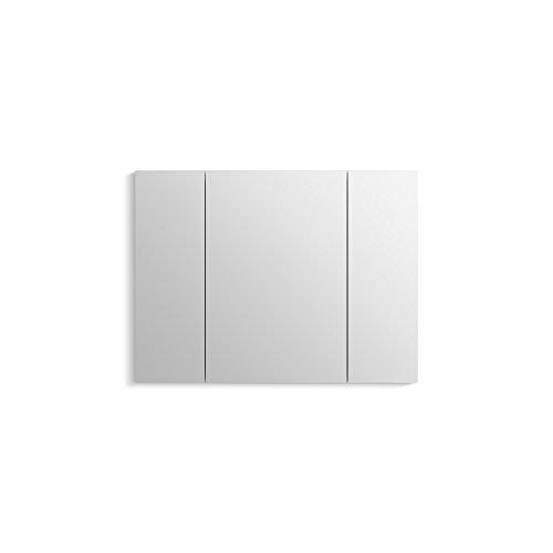 Cabinet Flat Mirror Frameless Medicine (KOHLER 99011-SCF-NA Verdera Aluminum Medicine Cabinet with Adjustable flip-Out Flat Mirror, 40