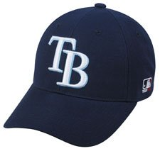 MLB ADULT Tampa Bay RAYS Home Navy Blue Hat Cap Adjustable Velcro TWILL