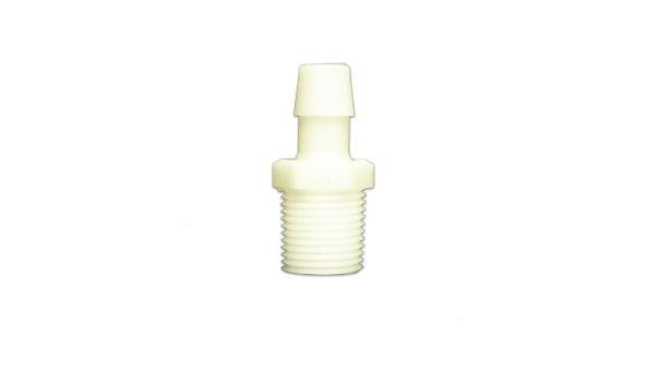 Value Plastics 1//8-27 To 3//32 Barb Connector 7//16 Hex Black Nylon Pack of 10