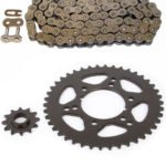 Non O-Ring 88L Chain and Sprocket 12/42 fits 1995-1998 Polaris 250 Trail Blazer Race-Driven