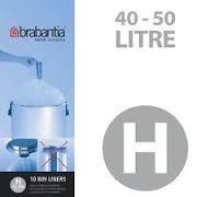 Brabantia - Bolsas de basura H, 40 - 50 litros - 10 bolsas ...