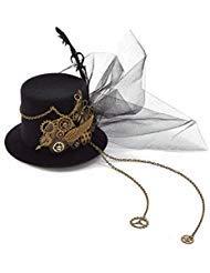 Crystalbella Kid Cosplay Women Steampunk Mini Top Hat Hair Clip Punk Gear Wings Clock Butterfly Hair accessories -