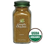 Simply Organic Cumin Seed Ground ORGANIC 2.31 oz. Bottle (a) - 2pc