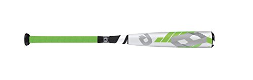 Wilson DeMarini CF8 Big Barrel Baseball Bat, 28'/17 oz, White/Neon Green/Silver