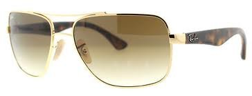 New Ray Ban RB3483 001/51 Gold/Brown Gradient Lens 60mm - Rb3483 Sunglasses