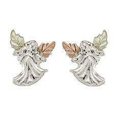 Black-Hills-Gold-Angel-Earrings-in-Sterling-Silver