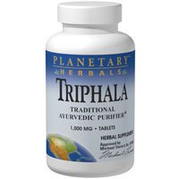 Triphala, 1000 mg, 180 Tabs by Planetary Herbals (Pack of 6)