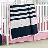 Nautica Kids Mix & Match Striped Whale Comforter only in Navy/Pink - Nautical ()