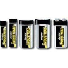 Energizer Industrial Alkaline Battery, 9 Volt, 12 batteries per pack - 6 packs per case