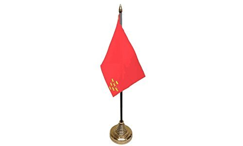 UKFlagShop Pack de 12 Banderas de Murcia España para Mesa de ...