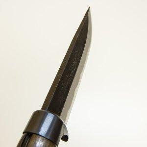 HONMAMON ''AZUMASYUSAKU'' Outdoor Knife made by Tosa Craftsmen 120mm(abt 4.7''), Kuro Uchi, Edge:Shirogami by HONMAMON (Image #2)