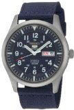 Seiko 5 Sport Automatic Navy Blue Canvas Mens Watch (5 Sports Automatic Blue Dial)