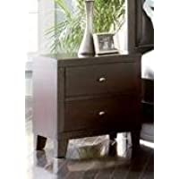 Nightstand in Dark Cappuccino Finish 22L x 16W x 24H