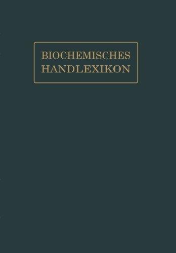 Biochemisches Handlexikon: IX. Band (2. Ergänzungsband) (Volume 9) (German Edition)