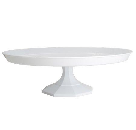 Plastic Cake Stand 13.75'' - White - 12 pcs