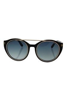 ddc98d9965 Amazon.com   Tom Ford Ft0383 01w Joan - Shiny Black Gold blue Gradient  Sunglasses For Women   Beauty