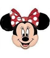 MINNIE MOUSE Head 28 RED Polka Dots Black Ears Birthday PARTY Mylar BALLOON by -