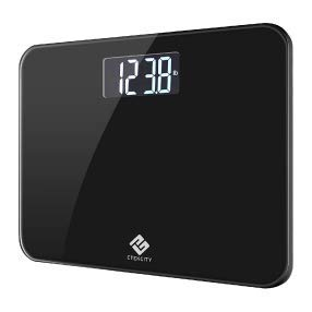 Etekcity High Precision Digital Body Weight Bathroom Scale 440 Pounds, Ultra Wide Platform and Easy-to-Read Backlit LCD, Body Tape Measure Included (Renewed)