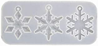 Snowflake Silicone Resin Molds, TQsuen Silicone Snowflake Epoxy Resin Casting Mold Kit Epoxy Resin Pendant Decoration Molds with Hanging Hole for Christmas Decoration Crafts DIY Resin Making Supplies
