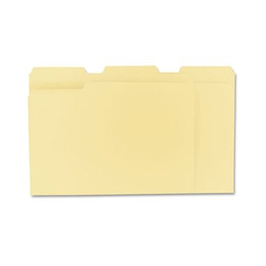 Universal 12113 File Folders, 1/3 Cut Assorted, One-Ply Top Tab, Letter, Manila (Box of (Manila Filing Folders)