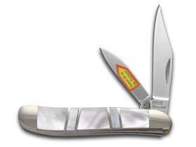 Steel Warrior Genuine Mother Of Pearl Peanut Stainless Pocket Knife Knives by Steel Warrior