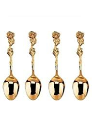 (HIC Gold Plated Rose Demi Spoon - Set of 4)