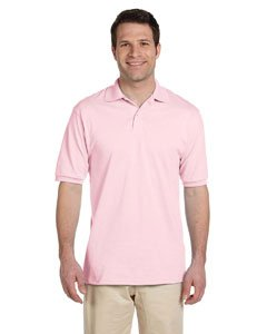 Jerzees 50/50 Men's 5.6 oz. Jersey Polo with Spotshield (Classic Pink, Medium)