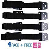 Furniture Straps - TV Safety Straps - Dresser Anchoring Kit - Furniture Anchors for Baby Proofing - Wall Anchor - Child Proof - Secure Furniture - Anti Tip Furniture Kit - METAL - 4 PACK - Gift Bonus