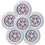Discraft Ultra-Star 175g Ultimate Frisbee Sport Disc (6 Pack) White