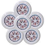 Discraft Ultra-Star 175g Ultimate Frisbee Sport Disc (6 Pack) White