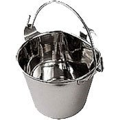 Classic Products Flat-Sided Hook-On Pails - 1 (Quart Flat Sided Stainless Steel)