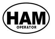 Ham Radio Operator Oval Decal