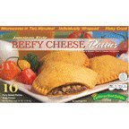 Jamaican Style Patties, Baked (Beefy Cheese), Indivisually Wrapped Patties (10)