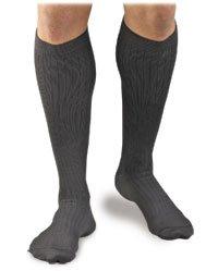 Activa Men's 20-30 mmHg Microfiber Dress Socks, Black, X-Large
