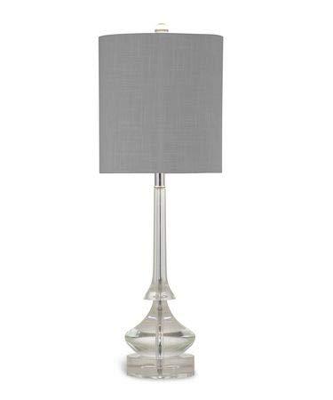 Amazon.com: Bassett Espejo Rivoli – Lámpara de mesa vidrio ...