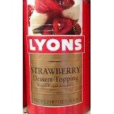 Lyons Strawberry Dessert Topping 55 Oz (6 Pack)