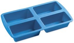 Bulk Buy: Wilton Easy Flex Silicone Mini Loaf Pan 4 Cavity W4826 (3-Pack)
