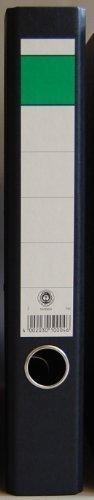 5 DIN A4 Ordner Wolkenmarmor -schmal- 5cm Rücken -schwarz- Blauer Engel, gratis Zugabe: Büroschere Edelstahl 25,5cm iceblau