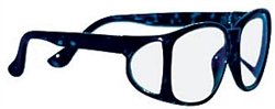 X-Ray Radiation Protection Glasses, Wrap Around-Guard, 0.75mm Pb Equivalency Lens, Blue