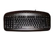 Ergoguys Left Handed Keyboard Wired USB Black (KBS-29BLK) -