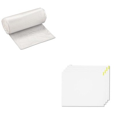 KITCWNWCRPLPDWIBSS243308N - Value Kit - White Walk-N-Clean Replacement Pads, 30quot; x 24quot; (CWNWCRPLPDW) and IBS S243308N High Density Commercial Coreless Roll Can Liners, Natural (IBSS243308N)