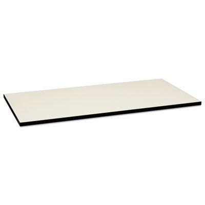Huddle Multipurpose Rectangular Top, 60w x 30d, Silver Mesh/Black, Sold as 1 Each