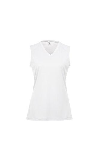 Badger Sportswear Women's B-Dry Sleeveless Performance Tee, White, Medium