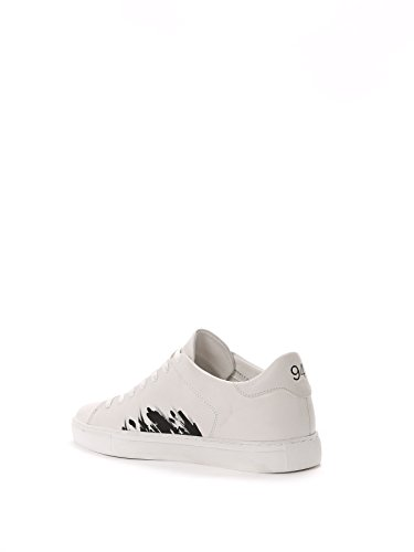 Crime London Sneakers Uomo 1126070 Pelle Bianco/Nero