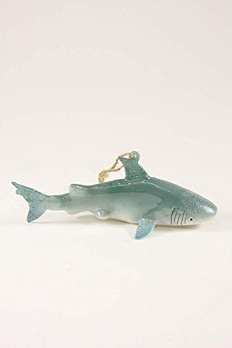 (Cody Foster & Co Great White Shark Glass Hanging Ornament)
