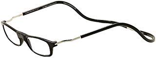 CliC XXL Adjustable Front Magnetic Connect Expandable Reading Glasses; Black +2.50